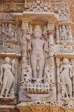 Władyki słońca statua przy Modhera słońca świątynią, Gujarat Zdjęcie Royalty Free