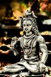 Władyki shiva uwielbiał w ind hinduską religią Zdjęcie Stock