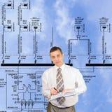 władz gałęziaste nowe technologie Obrazy Stock