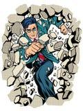 Władza biznesmena przerw biznesowa ściana ilustracji