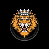 WŁADZA lwa królewiątko VECTORDESIGN royalty ilustracja