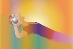 Władza muzyka i piękno ilustracji