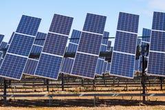 Władza panelu słonecznego system Zdjęcia Royalty Free