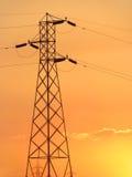 Sieć energetyczna i dostawy prądu górujemy obraz stock