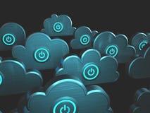 Władzy chmury Obliczać Zdjęcia Stock