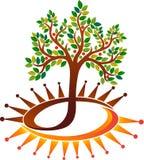 Władzy drzewa logo ilustracja wektor
