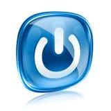 władzy ikony błękita szkła Fotografia Stock
