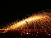 Władzy piłki ogień fotografia stock