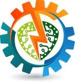 Władzy przekładni logo ilustracji
