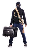 Włamywacz jest ubranym balaclava Fotografia Royalty Free