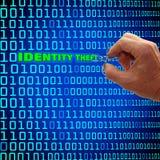włamywacza pojęcia tożsamości pieniądze stroju paszportowe sterty otaczali kradzieżowy target1340_0_ Zdjęcia Royalty Free