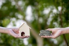 Własność, domowy kupienie, ziemianin, czynsz, pożyczka, hipoteczny pojęcie fotografia stock