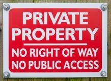 Własność Prywatna znak - Żadny dostęp obraz royalty free