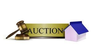 Własności aukci znak Fotografia Stock