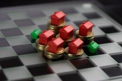 Własności & rynku nieruchomości gra Fotografia Stock