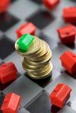 Własności & rynku nieruchomości gra Fotografia Royalty Free