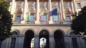 Włoch bergamo Fasada budynek prowincja i siedzenie prefekt zdjęcie wideo