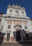Włoch bergamo Fasada kościół Sant'Alessandro della Croce fotografia royalty free