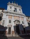 Włoch bergamo Fasada kościół Sant'Alessandro della Croce zdjęcie stock