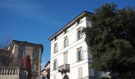Włoch bergamo Fasada Palazzo Trussardi dokąd sławny TV podawca Michelle Hunziker żyje obraz royalty free