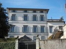 Włoch bergamo Fasada Palazzo Trussardi dokąd sławny TV podawca Michelle Hunziker żyje fotografia royalty free