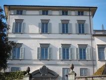 Włoch bergamo Fasada Palazzo Trussardi dokąd sławny TV podawca Michelle Hunziker żyje zdjęcia stock