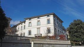 Włoch bergamo Fasada Palazzo Trussardi dokąd sławny TV podawca Michelle Hunziker żyje zdjęcie stock