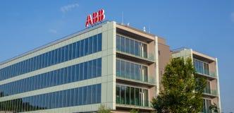 Włoch bergamo Lokujący ABB firma międzynarodowa w Włochy obraz royalty free
