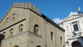 Włoch bergamo starego miasta Antyczna administracja Lokuje i fasada katedra zdjęcie wideo