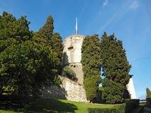 Włoch bergamo starego miasta Forteca i swój ogród zdjęcie stock