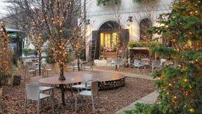 Włoch bergamo starego miasta Jeden piękny miasto w Włochy Bary podczas zima czasu i restauracje zdjęcie wideo