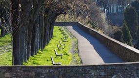 Włoch bergamo starego miasta Jeden piękny miasto w Włochy Zwyczajny teren wzdłuż Weneckich ścian zdjęcia stock