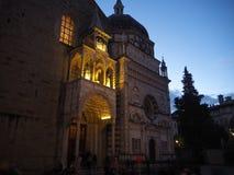 Włoch bergamo starego miasta Wejście bazylika Santa Maria Maggiore i Colleoni kaplica zdjęcie royalty free