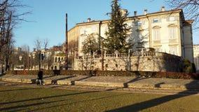 Włoch bergamo starego miasta Zwyczajny teren wzdłuż Weneckich ścian zdjęcie wideo
