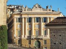 Włoch bergamo Stary miasto Jeden piękny miasto w Włochy Starzy i dziejowi budynki przy górnym miasteczkiem fotografia royalty free