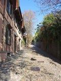 Włoch bergamo Widoki ulicy stary miasteczko zdjęcie stock