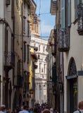 Włoch bergamo Widoki ulicy stary miasteczko fotografia royalty free