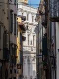 Włoch bergamo Widoki ulicy stary miasteczko zdjęcia royalty free