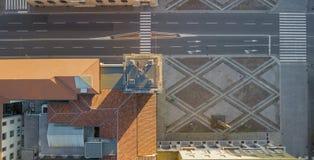 Włoch bergamo Wierzchołka puszka widok z lotu ptaka wierza Caduti w pamiątkowy Torre dei lub włoszczyźnie i centrum miasta fotografia stock