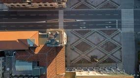 Włoch bergamo Wierzchołka puszka widok z lotu ptaka wierza Caduti w pamiątkowy Torre dei lub włoszczyźnie i centrum miasta fotografia royalty free