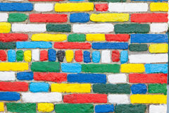Włoch burano Wenecji Jaskrawy malujący zewnętrzny ściana z cegieł zdjęcia royalty free
