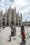 Włoch duomo square Milan Fotografia Stock