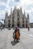 Włoch duomo square Milan Zdjęcia Stock