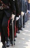 włoch policja maszeruje w paradzie wiele włoskie siły zbrojne zdjęcie stock