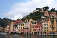 Włoch portofino portu fotografia royalty free