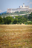 Włoch z asyżu Widok bazylika San Francesco obraz royalty free