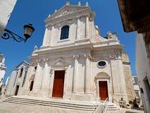 Włochy, Apulia, Bari, Locorotondo kościół San Giorgio męczennik obraz royalty free