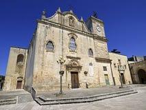 Włochy, Apulia, Lecka, Melpignano Macierzysty kościół San Giorgio zdjęcia stock