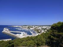 Włochy, Apulia, Santa Maria Di Leuca, panoramiczni widoki wioska obrazy royalty free