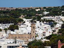 Włochy, Apulia, Santa Maria Di Leuca, panoramiczni widoki wioska zdjęcie stock